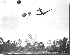 C-47 dropping supplies