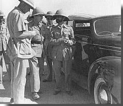 Wingate and Selassie in liberated Addis Ababa
